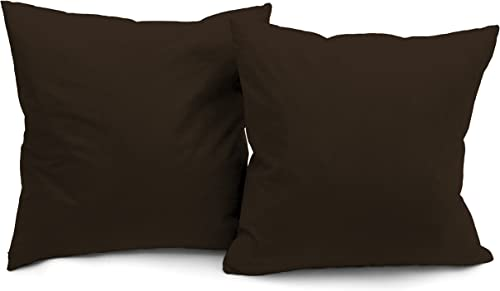 Deluxe Comfort Microsuede Throw Pillows, 16 by 16 , Charcoal