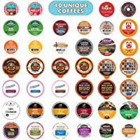 Crazy Cups Coffee Variety Sampler Pack, 40-Count