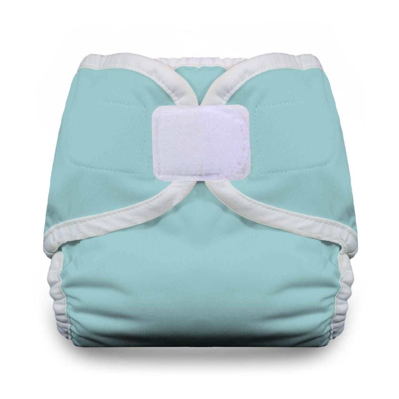 Thirsties Hook and Loop Diaper Cover, White, Newborn/Preemie TDCHLW0