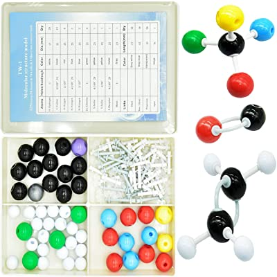 ZeeDix 125 Pcs Organic Chemistry Molecular Model Kit - Molecules Building Set for School Teacher and Student,Molecular Model Set for Inorganic & Organic Chemistry - 48 Atoms & 76 Links & 1 Opener: Industrial & Scientific