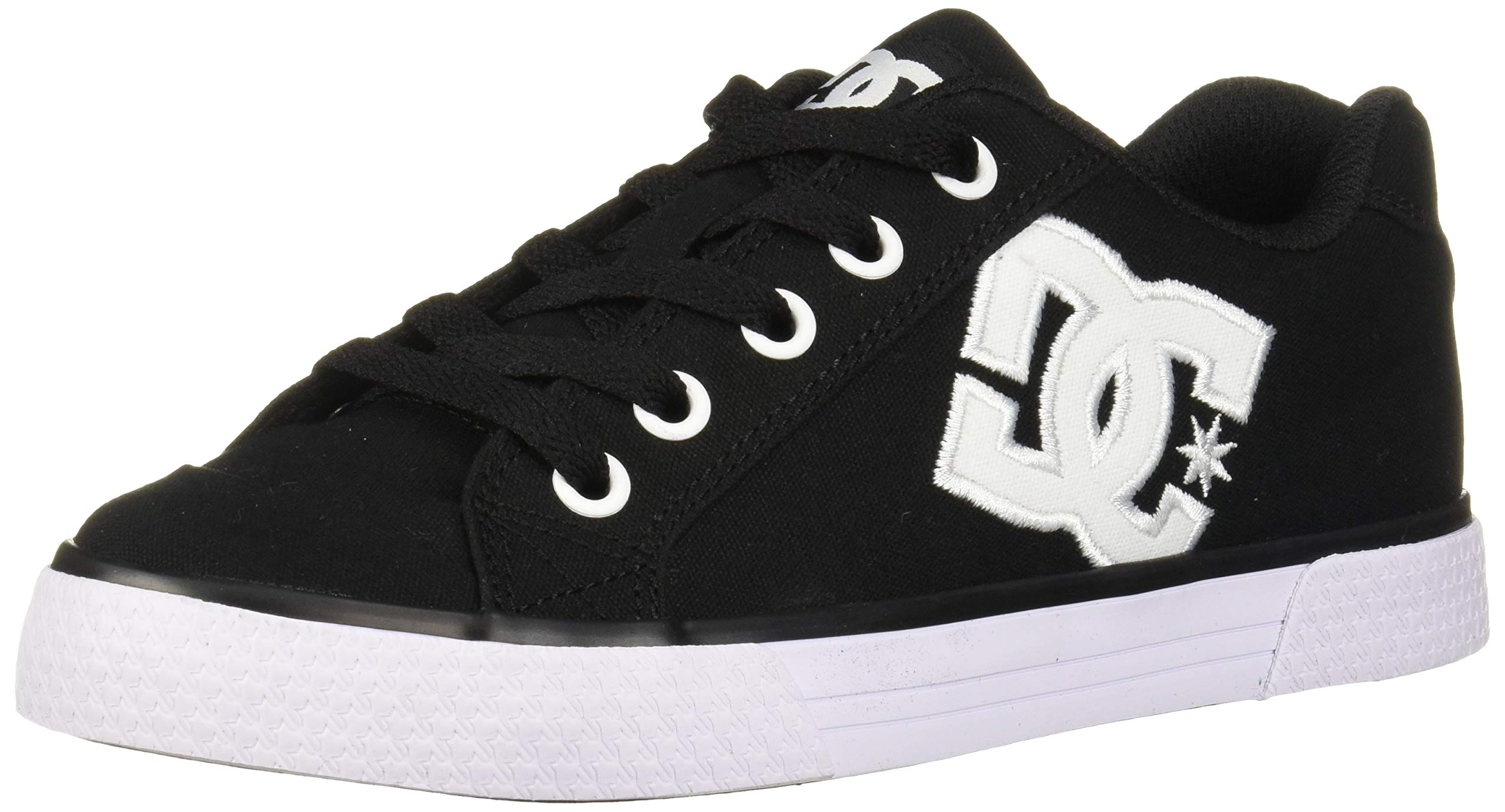 DC Women's Chelsea TX Skate Shoe, White/Black, 8 M US by DC