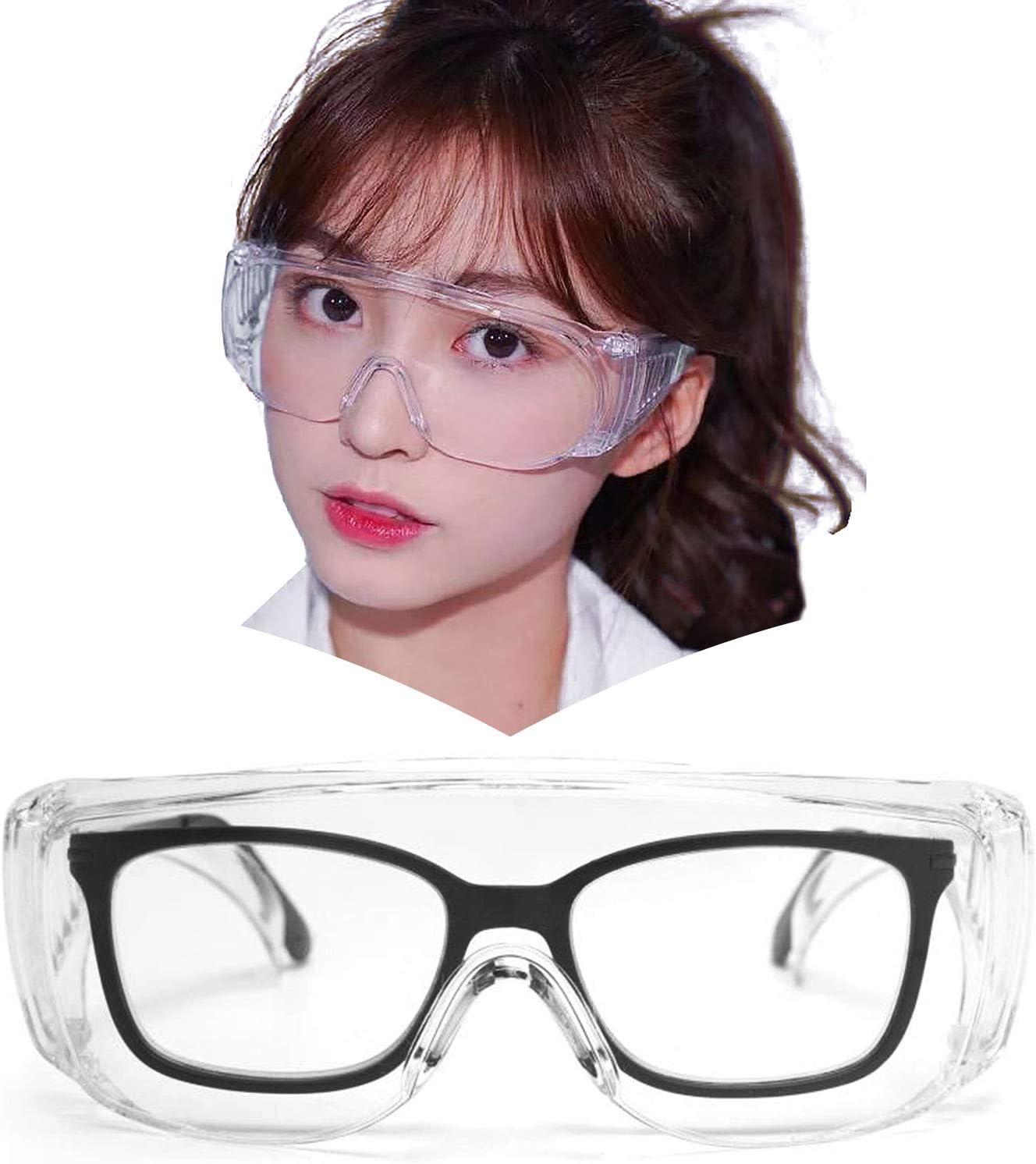 Amazon | JIMMY ORANG ゴーグル メガネ 保護 眼鏡の上から掛けれる ...