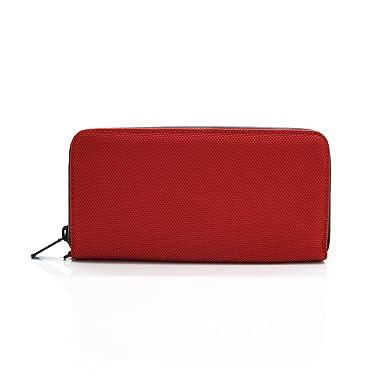 Patu Travel Cell Phone Passport Zipper Wallet RFID Blocking Ballistic Nylon Ballistic Nylon Red