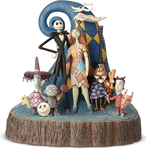 Enesco Disney Traditions by Jim Shore Nightmare Before Christmas Carved by Heart Figurine 8 Multicolor