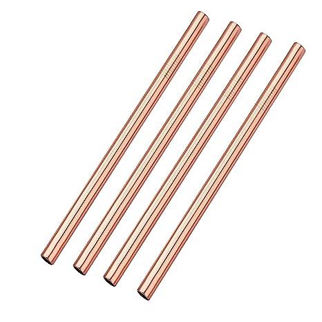 Amazon.com: Pajitas de acero inoxidable, color oro rosa ...