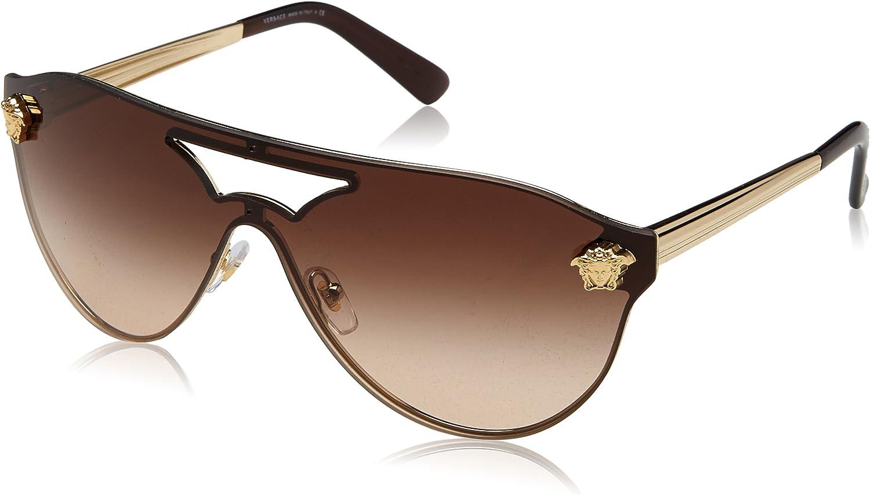 Versace 0Ve2161 Gafas de sol, Pale Gold, 65 para Mujer