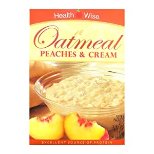 HealthWise - Peaches & Cream Oatmeal for Diet or Weight Loss   High Protein, Low Calorie   7 Packets  