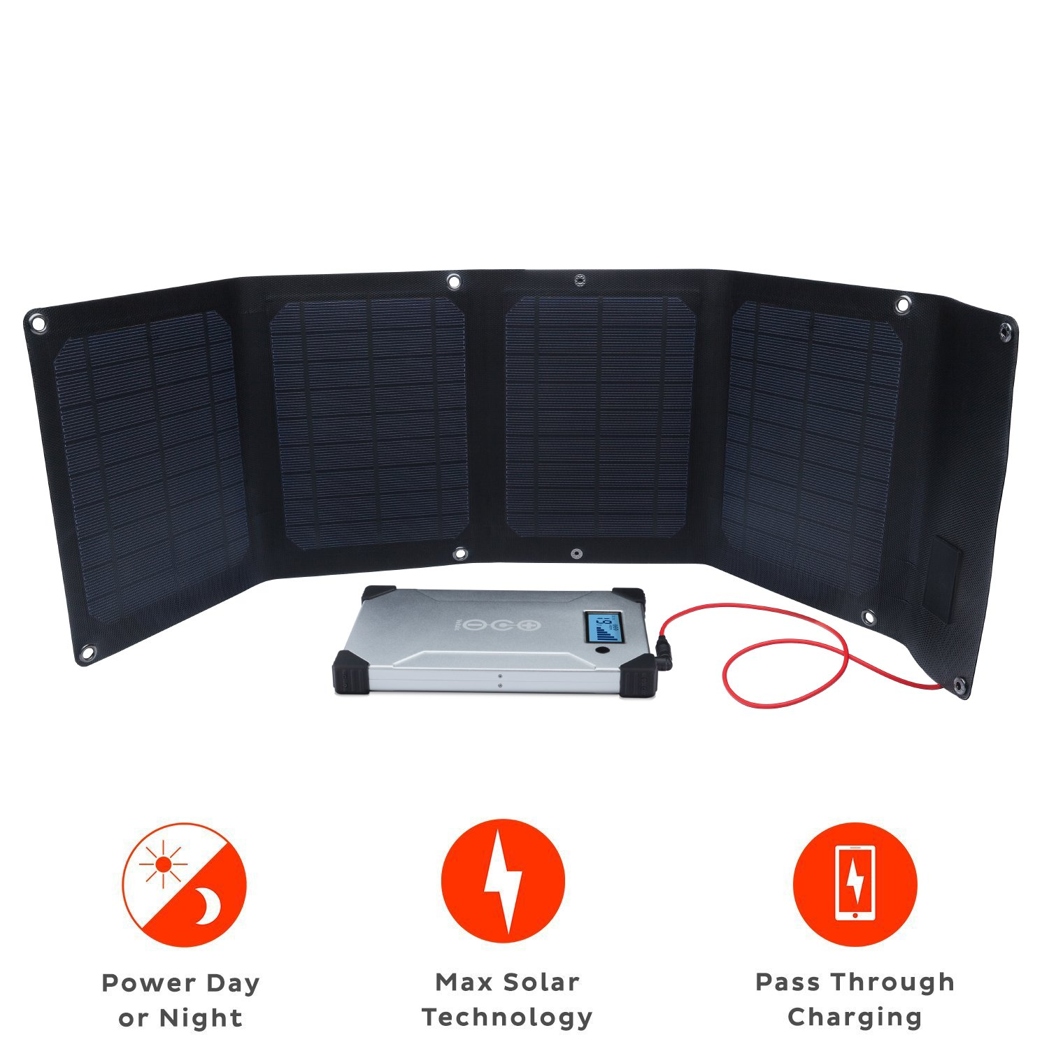 Voltaic Systems Arc 20 Watt Rapid Solar Laptop Charger Ece Rockstars Microcontrollerbased 24000mah Includes A Battery Pack Power Bank And 2 Year Warranty Powers Laptops