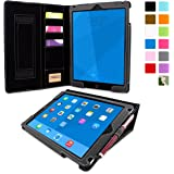 Snugg Leather Kick Stand Case for Apple iPad Air 2 - Executive Black