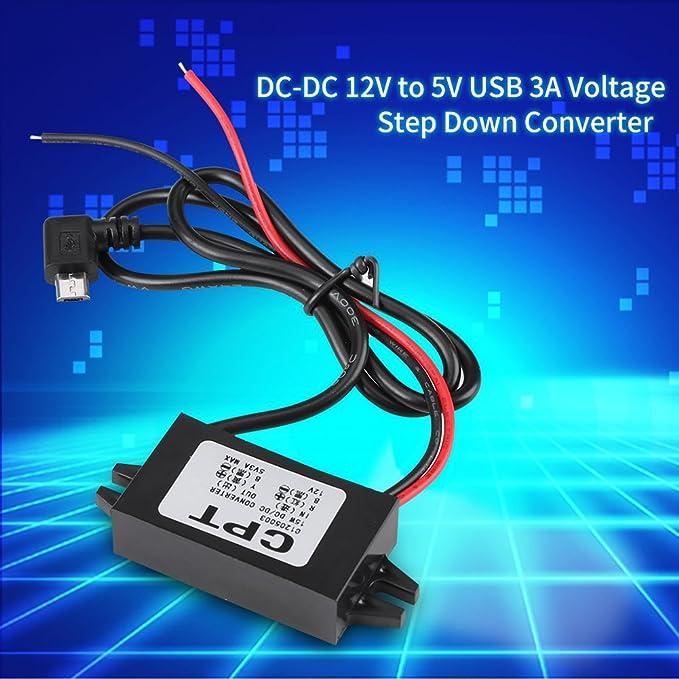 Dc Dc 12 V Zu 5 V 3a Micro Usb Konverter Spannung Regler Für Auto Spannungswandler Baumarkt