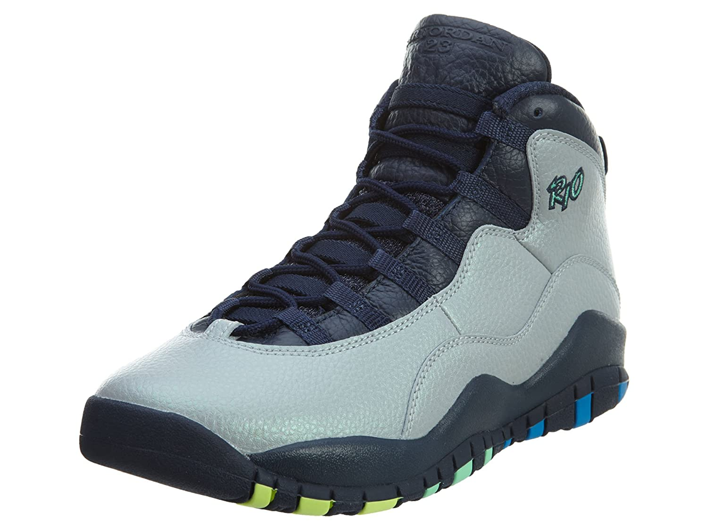 Wolf grey, oht bl-obsdn-grn glw Nike Men's Air Jordan 5 Retro Basketball shoes