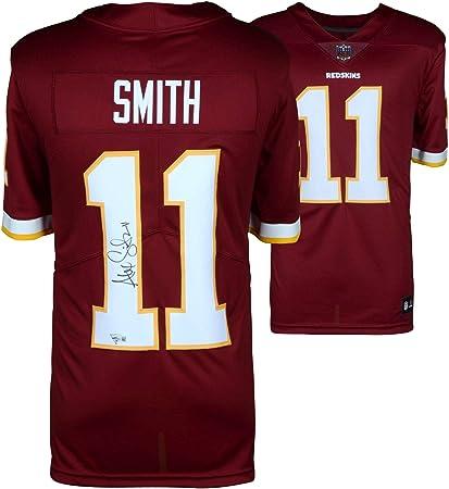 newest d501b b93ff Alex Smith Washington Redskins Autographed Nike Burgundy ...