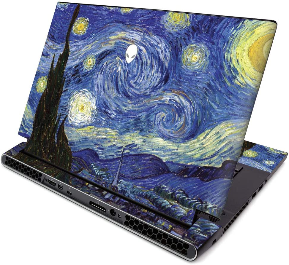 MightySkins Skin for Alienware M15 R2 (2019) - Starry Night | Protective, Durable, and Unique Vinyl Decal Wrap Cover | Easy to Apply, Remove, and Change Styles | Made in The USA