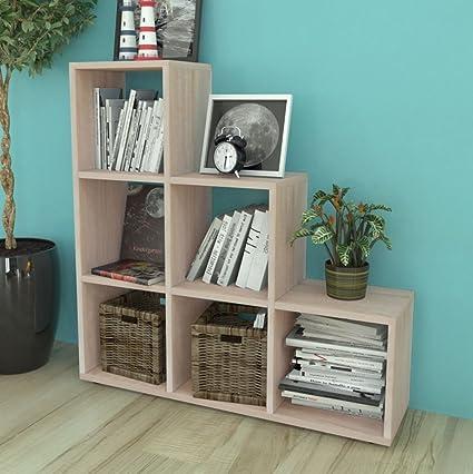 SKB Family Staircase Bookcase/Display Shelf 42u0026quot; Oak Furniture Shelf  Display