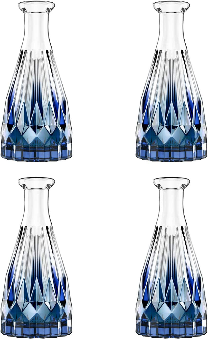 Amazon Com Lewondr Glass Diffuser Bottles 4pcs 5 7 High 150ml 5 1fl Oz Diffuser Bottles For Reed Diffuser Refill Conical Replacement Aroma Bottles Diffusers Vase For Aromatherapy Diy Home Use Blue Home Kitchen