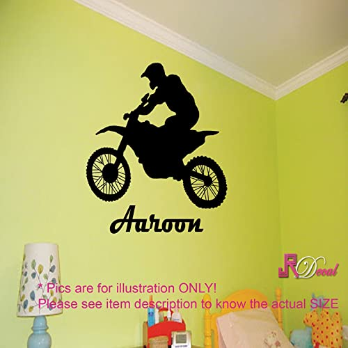 Motorcycle Bike Motorbike Wall Art Sports Personalised Name Wall ...