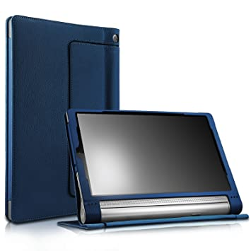 Lenovo Yoga Tab 3 pro 10 Case - Infiland Folio Premium PU Leather Stand Cover Fit Lenovo YOGA Tab 3 Pro 10.1-Inch Tablet Only, Navy