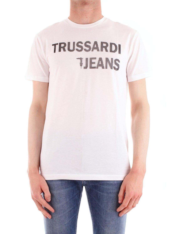 Trussardi Luxury mode Homme 52T002421T001675BIANCO Blanc T-Shirt   Printemps été 19