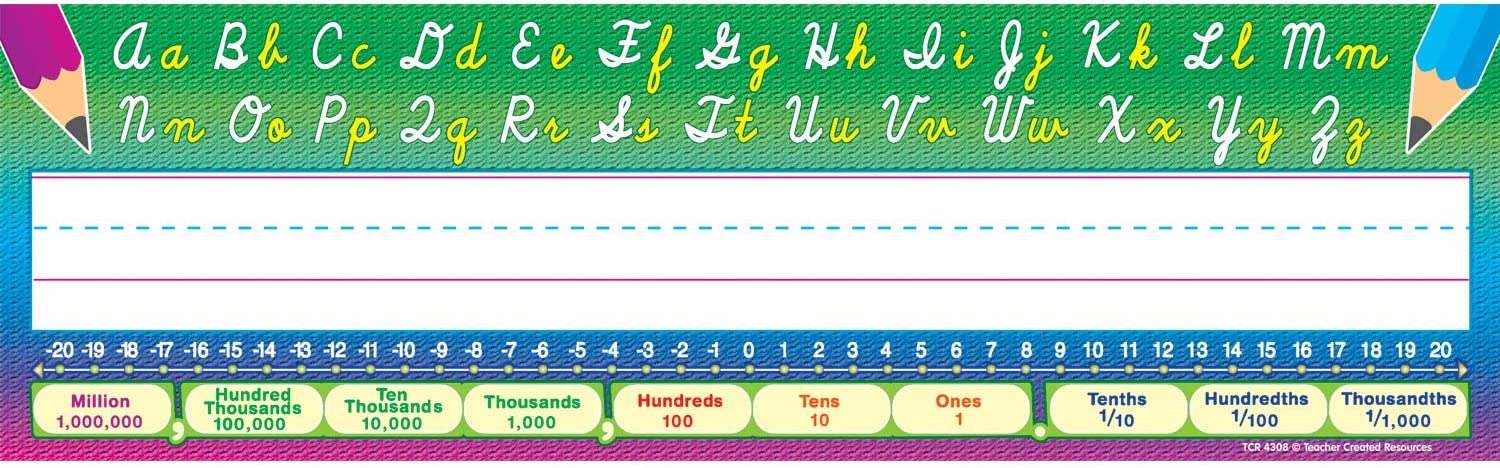 Teacher Created Resources Flat Cursive Writing Name Plates (4308)
