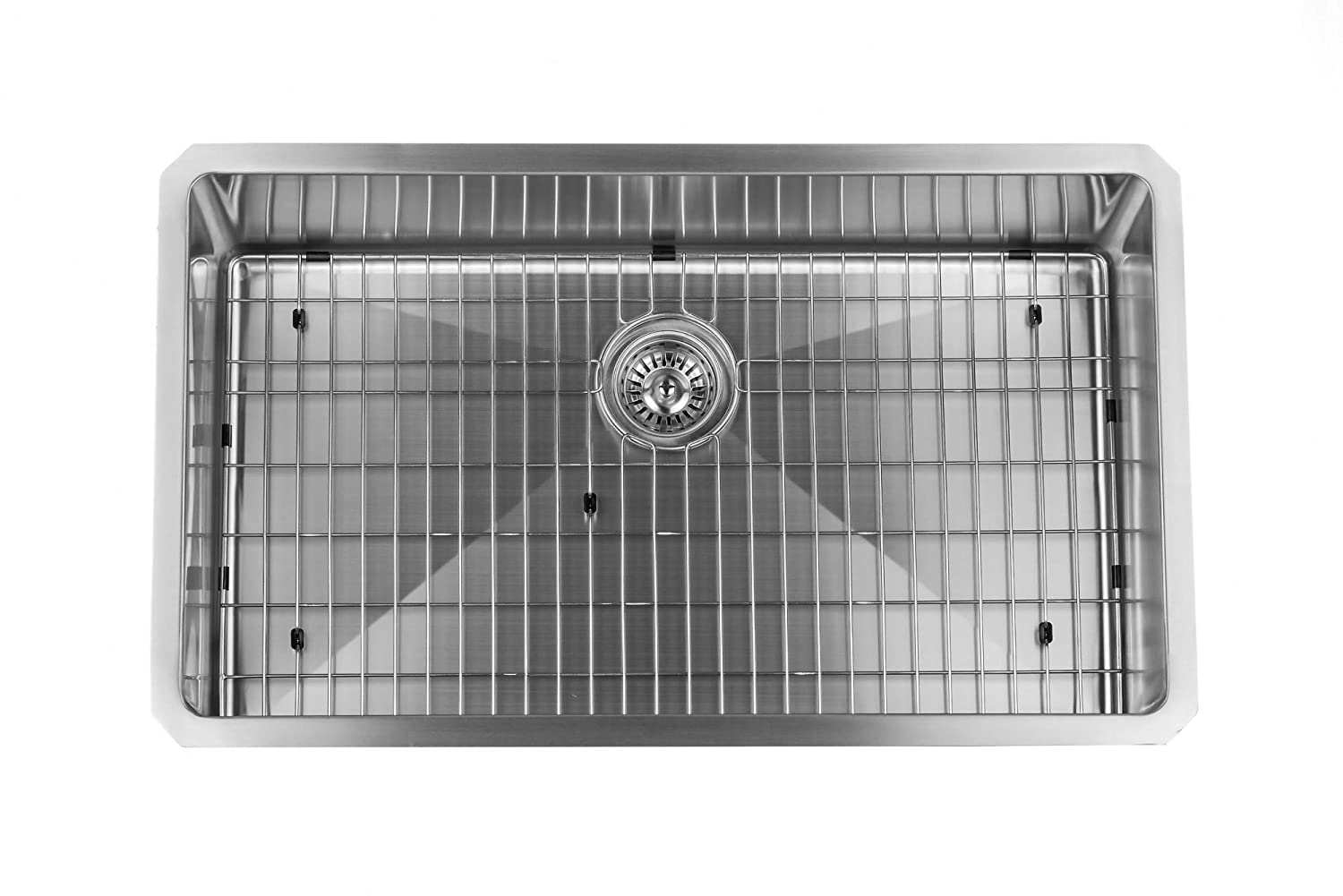 Miseno MSS3219SR Undermount 32  X 19  Stainless Steel (16 gauge) Kitchen Sink - Includes Basin Rack and Drain - - Amazon.com  sc 1 st  Amazon.com & Miseno MSS3219SR Undermount 32