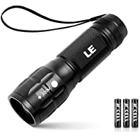 LE Linterna LED Alta Potencia, Linterna de Mano CREE Zoomable, Foco ajustable, Mini Linternas Antorcha Impermeable…