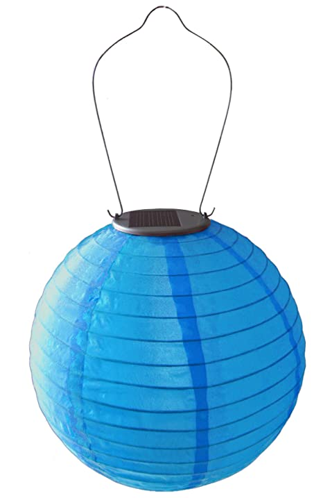 Allsop Home And Garden Soji Original 10u201d Round LED Outdoor Solar Lantern,  Handmade With