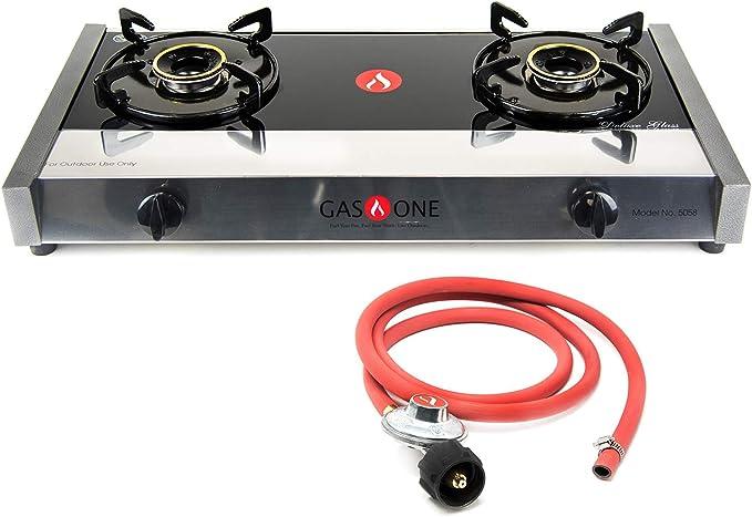 Amazon.com: Gas One 5058 - Cocina de gas con regulador de ...
