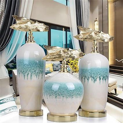Ornamento De Cerámica Florero Creativo Moderno Minimalista Decoración Del Hogar Artesanía Muebles Arte Elegante