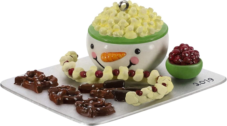 Hallmark Keepsake Christmas Ornament 2019 Year Dated Season's Treatings Snowman Popcorn Bowl