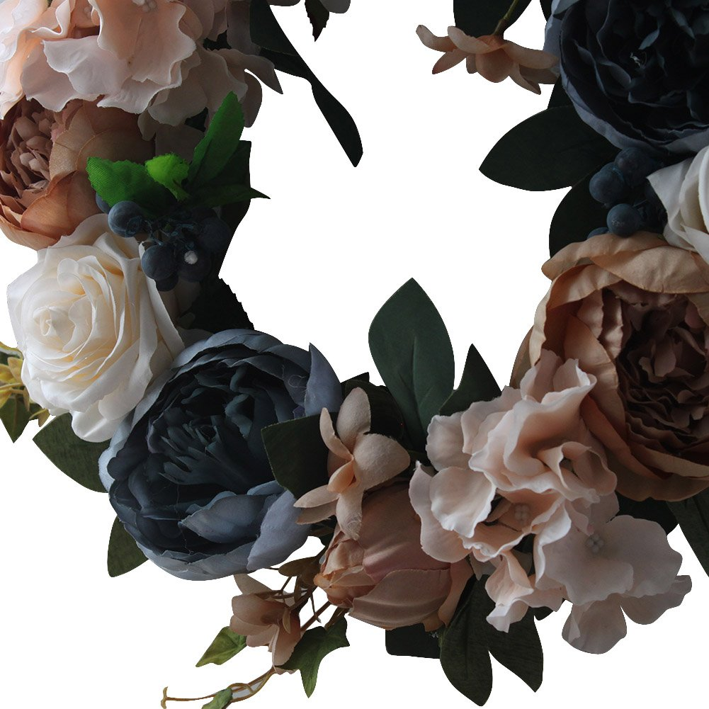Vintage Rose Wreath Home Wall Decorations by LOUHO (Image #5)