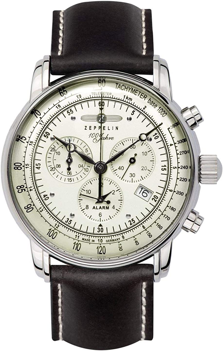 Zeppelin 8680-3 Men's Watch with Alarm Stopwatch