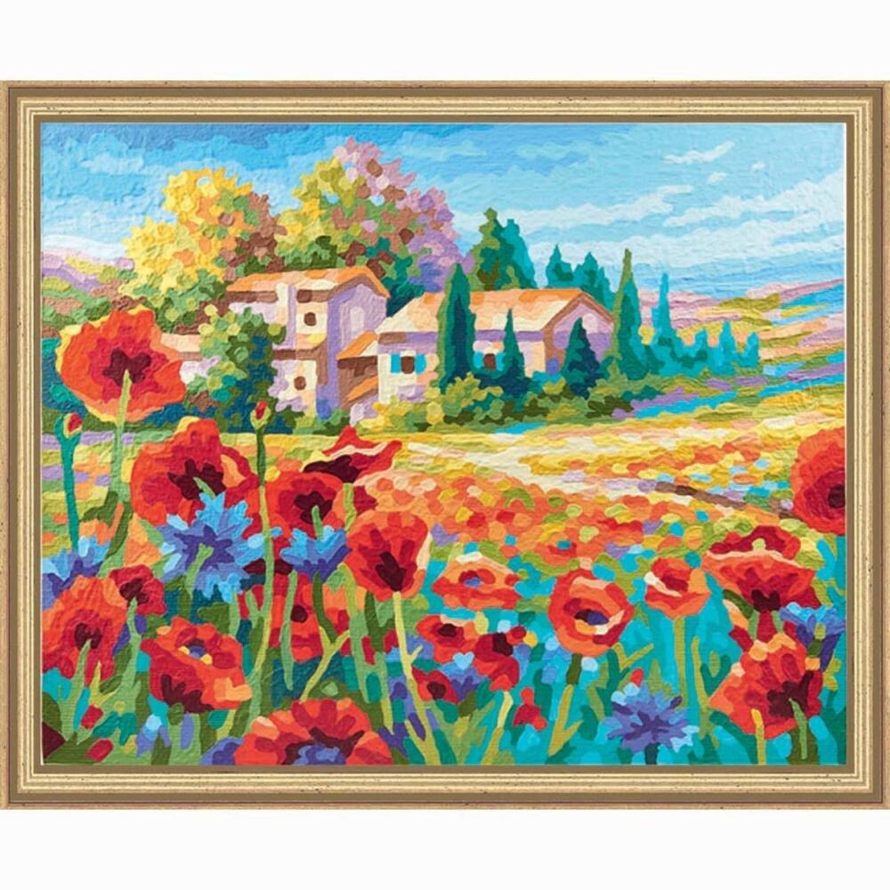 Schipper 609430727 Poppy Fields Paint by Numbers Board by Schipper