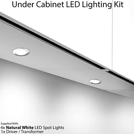 4 x 2.6 W LED armadio da cucina rotondo illuminazione spot & driver ...