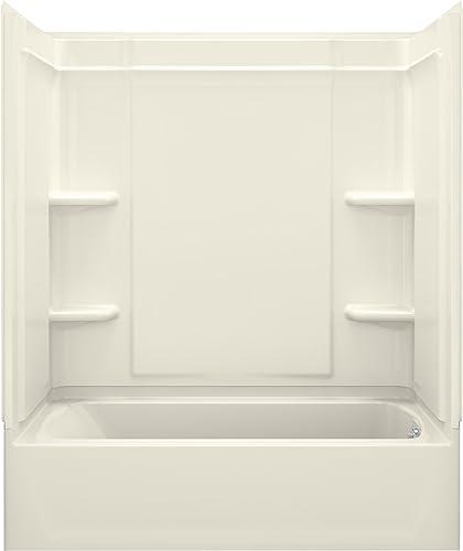 STERLING, a KOHLER Company 71370120-96 Ensemble Medley Bathtub Shower, Biscuit