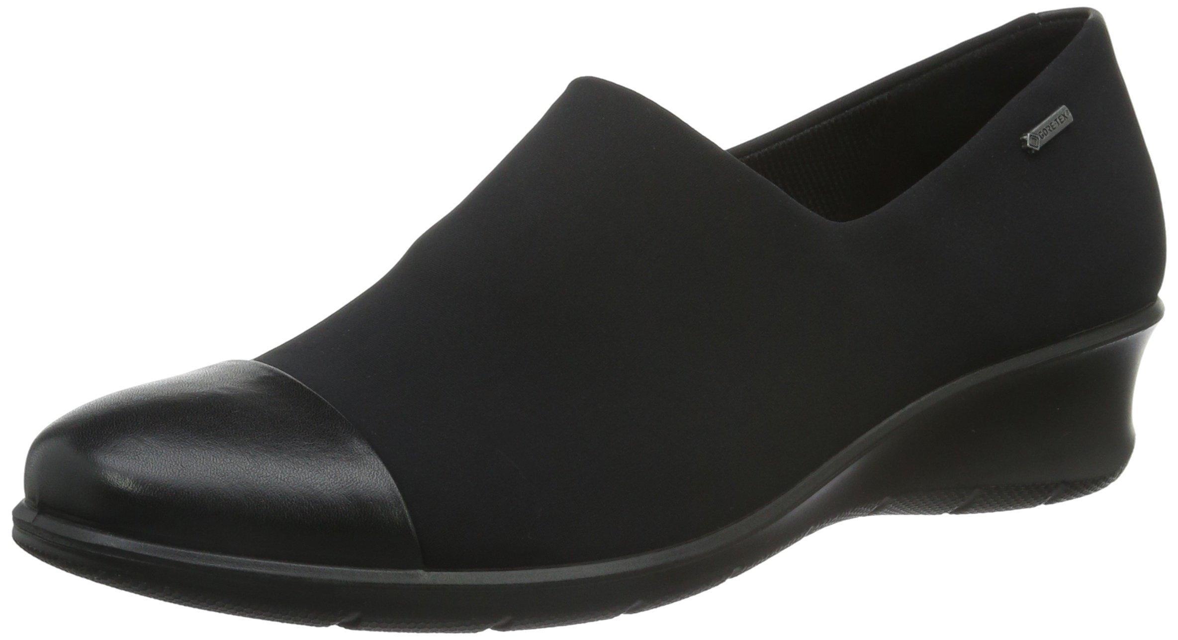 ECCO Footwear Womens Felicia GTX Slip-On Loafer, Black/Black, 39 EU/8-8.5 M US
