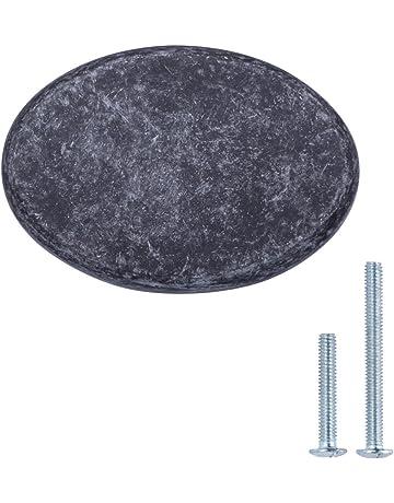 AmazonBasics - Pomo de armario redondo y plano, 3,66 cm de diámetro,