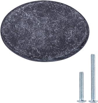Paquete de 10 N/íquel satinado con dise/ño de aro superior plano Basics 3,17 cm de di/ámetro Pomo de armario