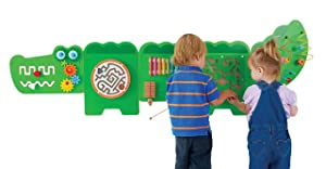 LEARNING ADVANTAGE Crocodile Activity Wall Panels - 18M+ - in Home Learning Activity Center - Wall-Mounted Toy for Kids - Toddler Decor for Play Areas