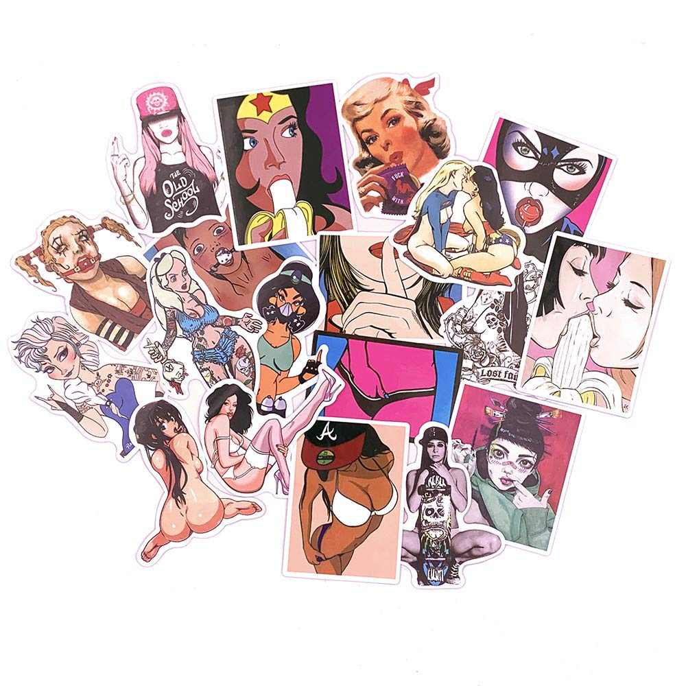Sexy Women Stickers Pack [50pcs] Laptop Stickers Bomb Beauty Pinup Girls Stickers and Decal Vintage Retro Stickers for Luggage Skateboard Phone Case Guitar Car Bike Bumper