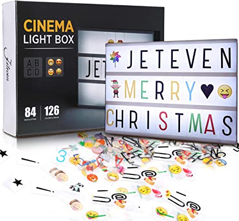 Cinema Sign A4 Letter LED Light Box Cinematic Symbols For Wedding Party Decors