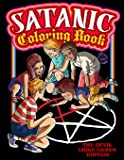 Satanic Coloring Book: The Devil Child Games Edition: Presenting Satan, Lucifer, Black Goat, Sigil Baphomet, Antichrist…
