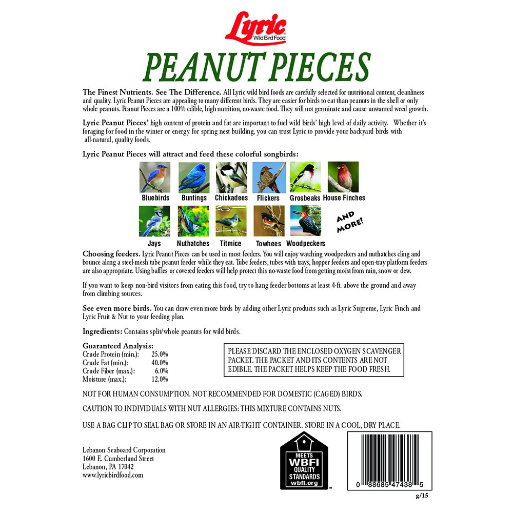 Amazon Lyric Peanut Pieces Wild Bird Food lb. Patio