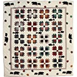 Patch Magic King Bear's Paw Quilt, 105-Inch by 95-Inch