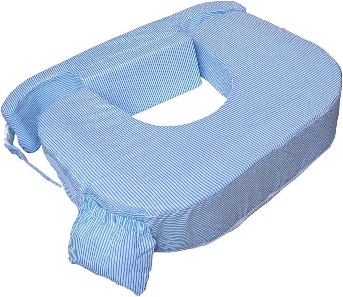 Blue White Stripes My Brest Friend Twin Breastfeeding Nursing Pillow