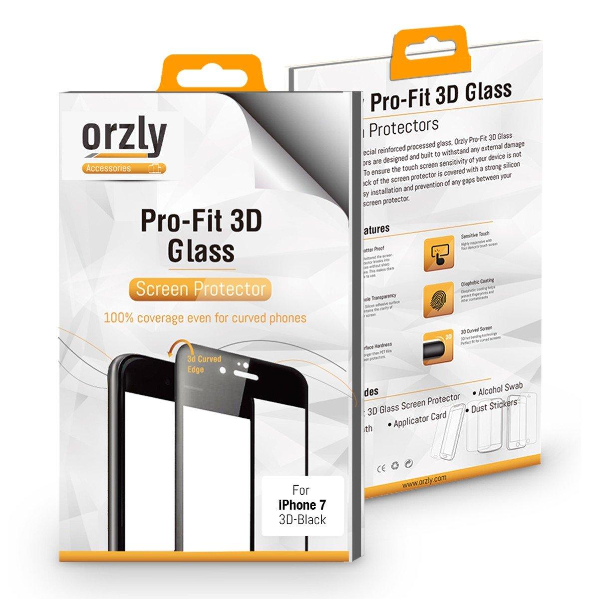 Protector de Pantalla iPhone 7, 3D Pro-Fit Protector de Prima de Cristal Templado de Orzly® [Protección completa de la pantalla para el iPhone 7: Amazon.es: ...