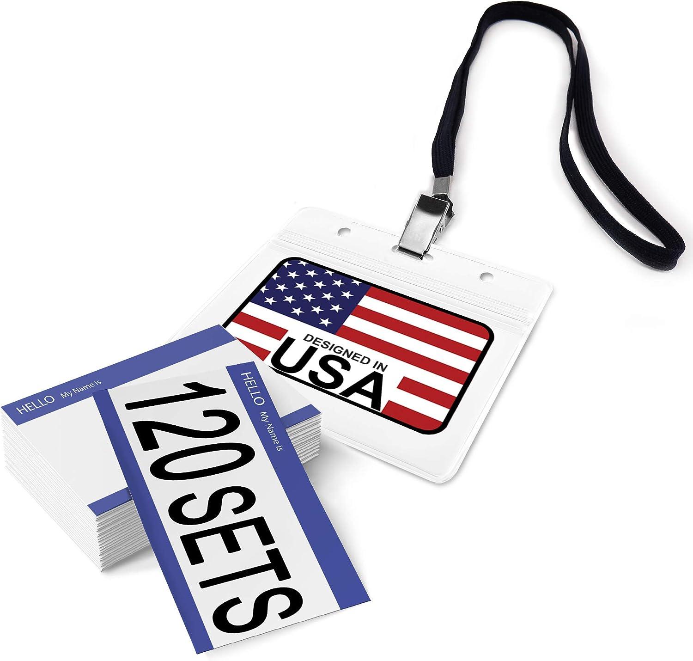 Vertical Hopeful 10PCS Badge Holders and Id Card Holders Plastic,Waterproof School Student,Teacher,Office Company Employee,Doctor,Bus Pass Badge Holders