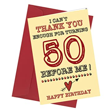 282 BIRTHDAY GREETING CARD 50th Birthday Card Comedy Rude Funny Humour Valentine A4 Folded