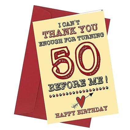 Tarjeta de felicitación de 50 cumpleaños, número 282, con ...