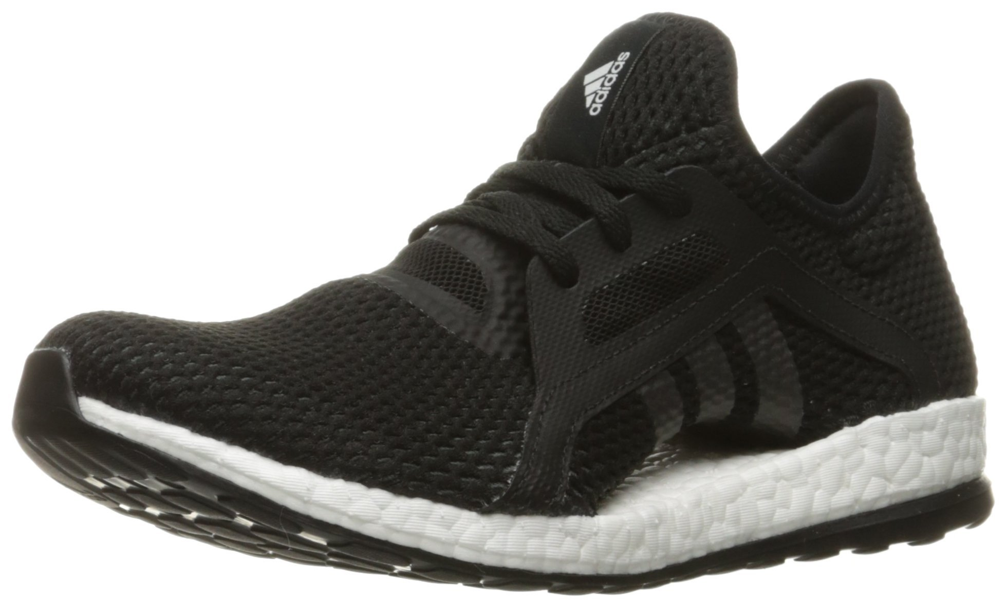 adidas Performance Women's Pureboost X-w Running Shoe, Black/Black/Solid Grey, 8 M US