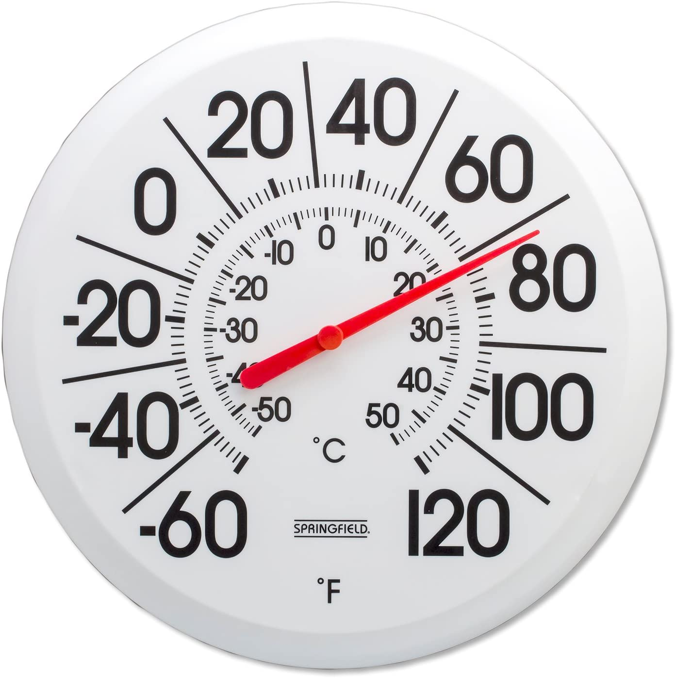 B00004TBJI Springfield Big and Bold Low Profile Patio Thermometer (13.25-Inch) 71dv2hnSn3L